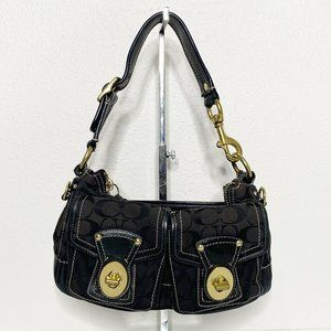 Coach Black Double Pocket Legacy Soho Handbag